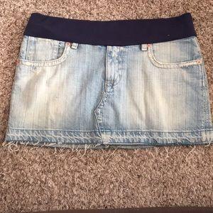 Hudson Distressed Jean Skirt